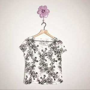 Anthro | Meadow Rue Cherry Blossom Blouse Small